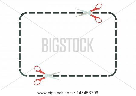 Advertising coupon or coupon border 3D rendering