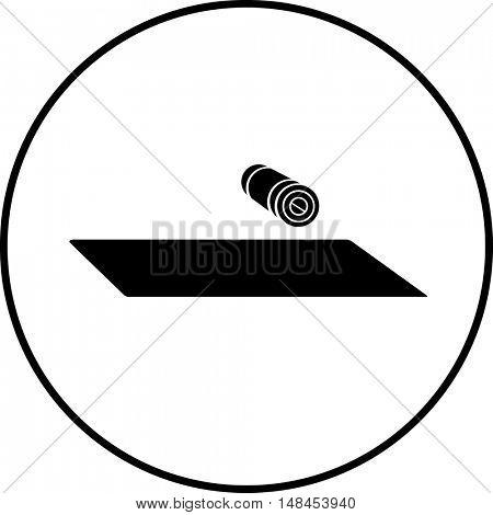 exercise mat symbol
