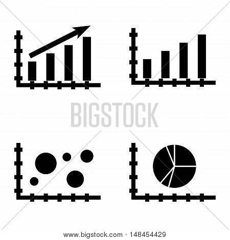 Set Of Statistics Icons On Bar Chart, Statistics Growth, Pie Chart And More. Premium Quality Eps10 V