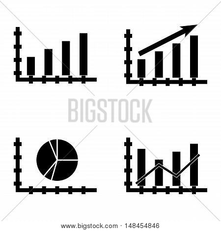 Set Of Statistics Icons On Pie Chart, Dynamics Graph, Statistics Growth And More. Premium Quality Ep
