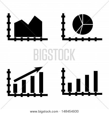 Set Of Statistics Icons On Statistics Growth, Bar Chart, Area Chart And More. Premium Quality Eps10