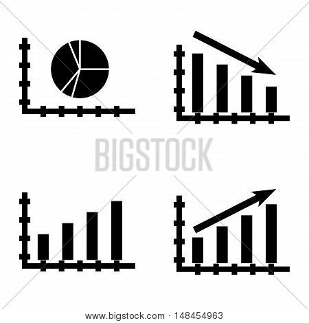 Set Of Statistics Icons On Bar Chart, Pie Chart, Statistics Growth And More. Premium Quality Eps10 V