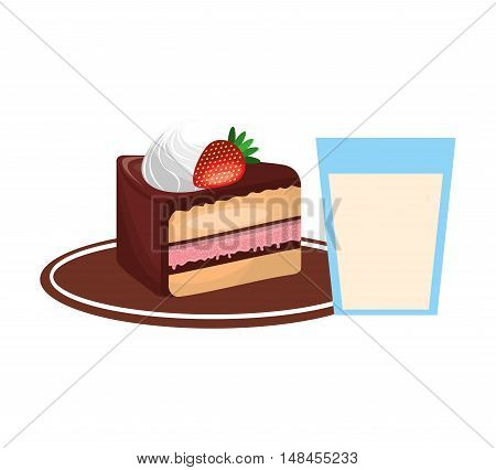 delicious tray - baked goods vector illustration design