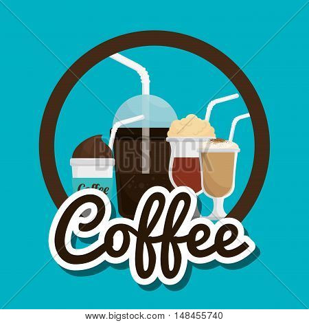 cup glass coffee straw graphic vector illustration eps 10