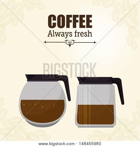 pot glass coffee maker graphic vector illustration eps 10