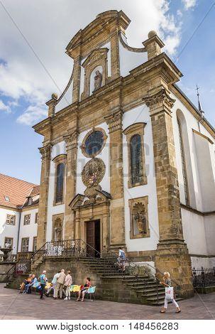 PADERBORN, GERMANY - SEPTEMBER 6, 2016: Church of the Franziskaner monastery in Paderborn, Germany