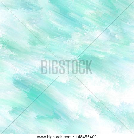 Abstract background diagonal painted in turquoise and white