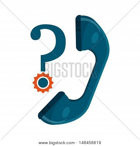 telephone speaker with call center icon vector illustration design