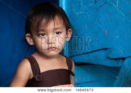Asian Girl Living In Poverty