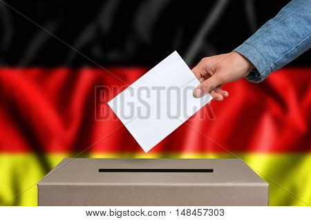 Election In Germany - Voting At The Ballot Box