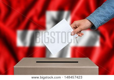 Election In Switzerland - Voting At The Ballot Box