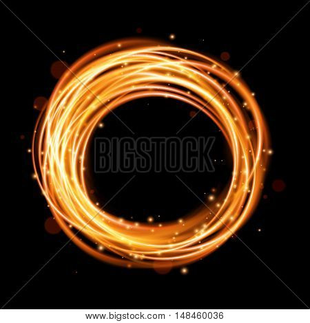 Swirl trail effect, Glow light effect, Glowing fire ring trace, Magic light