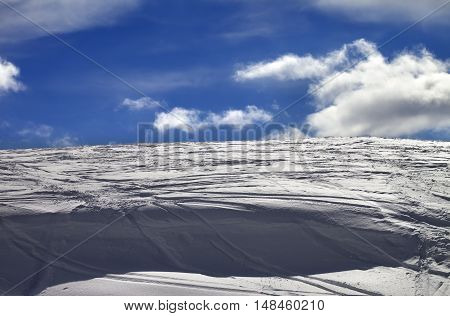 Off-piste Slope And Snow Cornice