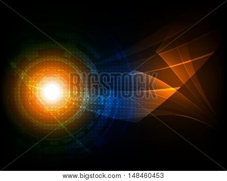 Abstract futuristic digital technology background, Vector illustration EPS10
