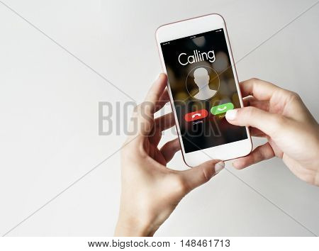 Calling Incoming Communication Connect Concept