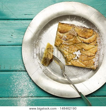 Apple Cinnamon Tart With Hazelnut Frangipane