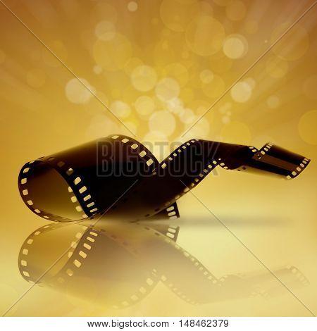 Film strip on bright background