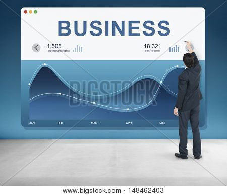 Business Analysis Chart Data Graphic Concept