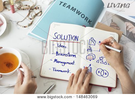 Process Business Strategy Management Solution Teamwork Concept