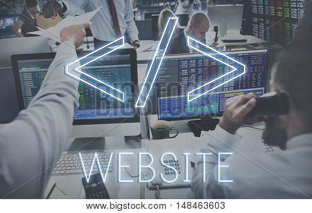 Website Coding Programming Technology Globalization Concept