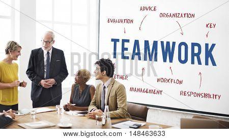 Teamwork Business Company Strategy Marketing Concept