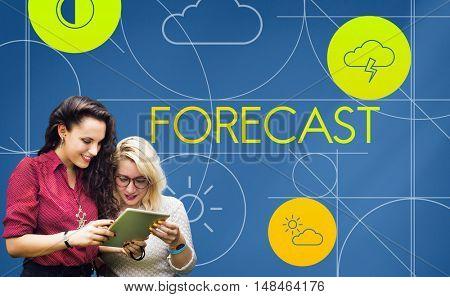 Forecast Season Temperature Cloud Graphic Concept