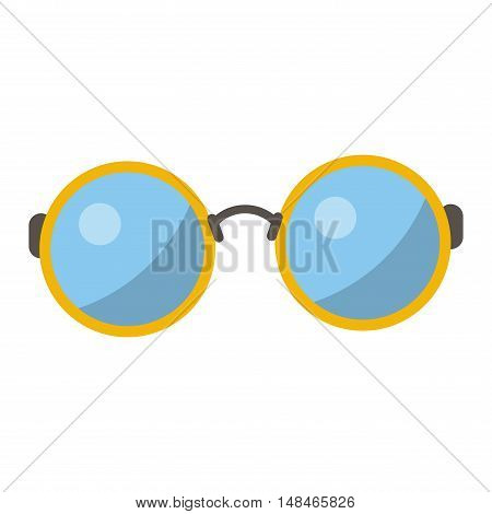 Vector glasses isolated on white background. Hipster fashion glasses. Glasses tool for human face isolated vector