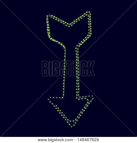 Vintage Looking Las Vegas Lights Arrow