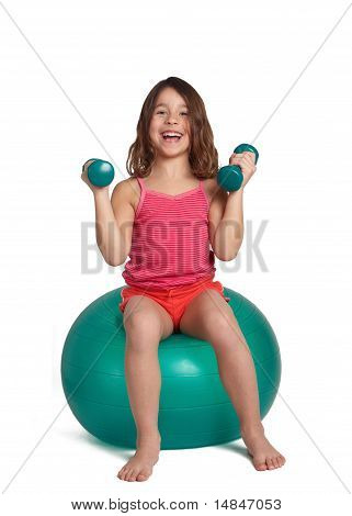 Child exercising