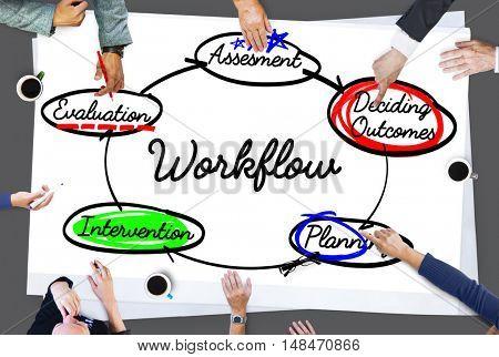 Workflow Process Action Plan Diagram Concept