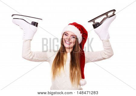 Girl With Santa Claus Cap.
