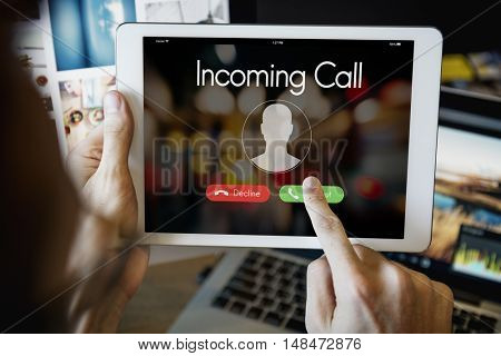 Incoming Call Communication Connect Concept