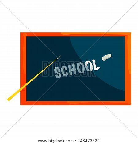 School blackboard icon in cartoon style isolated on white background vector illustration