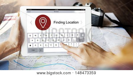 Location Finder Map Application Concept