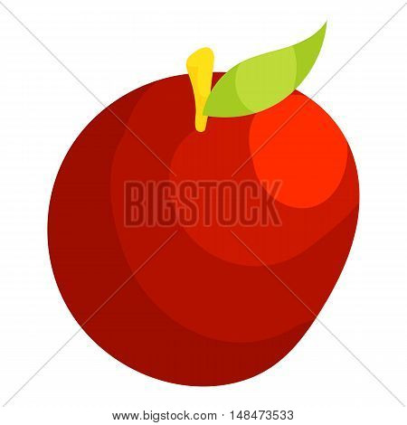 Apple icon in cartoon style isolated on white background vector illustration