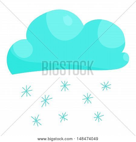 Cloud snow icon in cartoon style isolated on white background vector illustration
