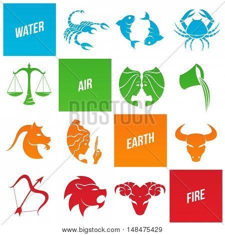 Illustration of Zodiac Star Signs