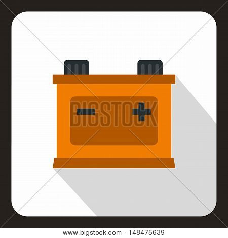 Car battery icon in flat style on a white background vector illustration