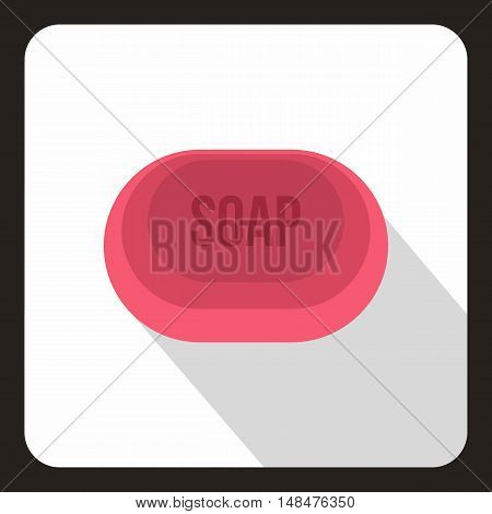 Pink soap icon in flat style on a white background vector illustration