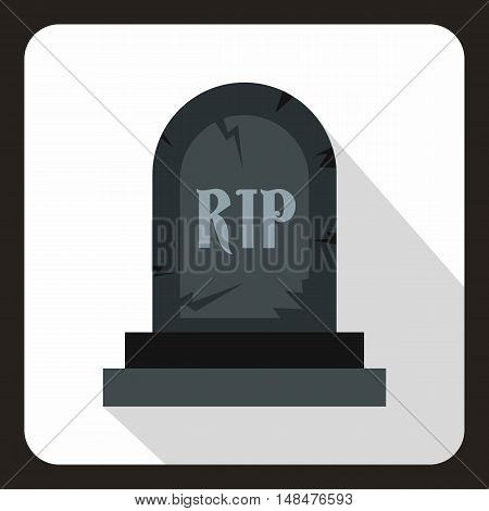 Tombstone icon in flat style on a white background vector illustration