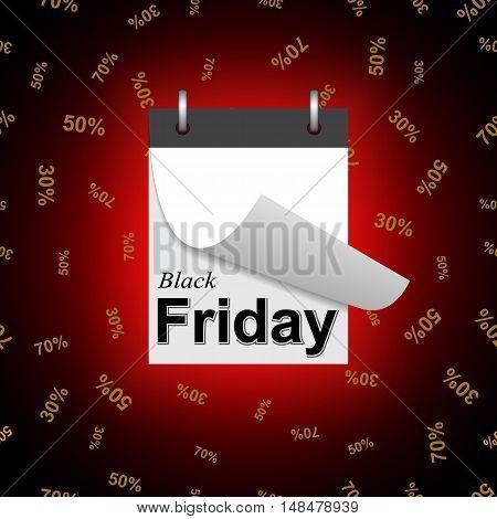 Black Friday sale discount background. Vector illustration.