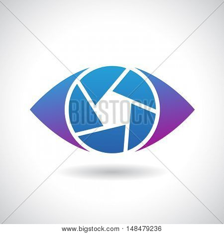 Design Concept of a Shape and Icon of a Shutter Eye