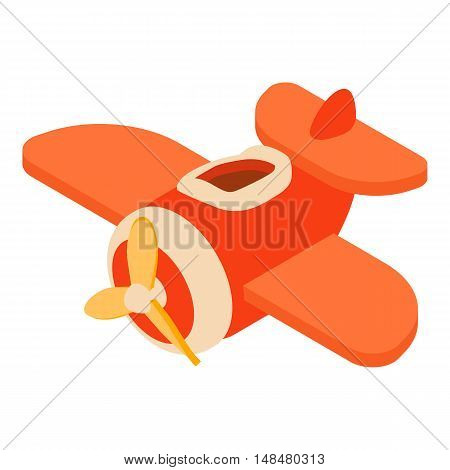 Toy airplane icon in cartoon style isolated on white background vector illustration