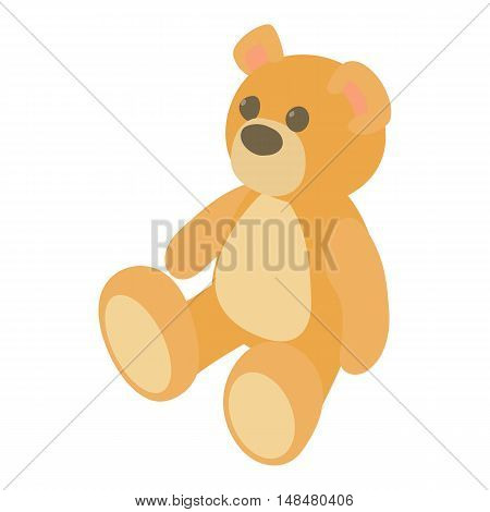 Teddy bear icon in cartoon style isolated on white background vector illustration