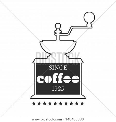 Coffee emblem, badge, logo, label isolated on white background. Vector illustration