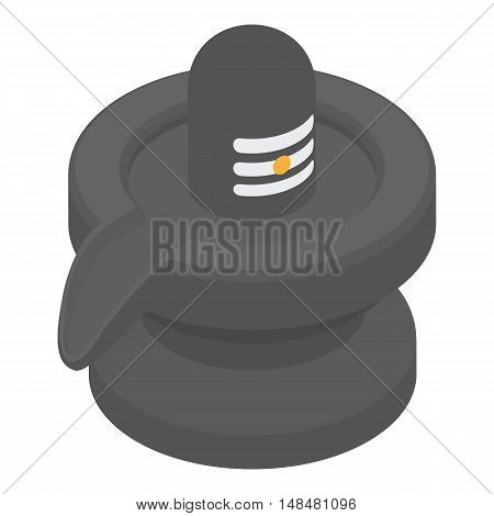 Black jug icon in cartoon style isolated on white background. Dishes symbol vector illustration