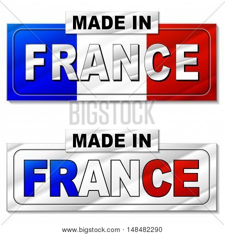 Illustration of made in france silver icon