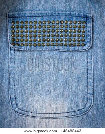 Closeup of pocket  jean texture with seam. You can apply for jean background, jean backdrop, jean wallpaper and everything about jean and danim background for you design