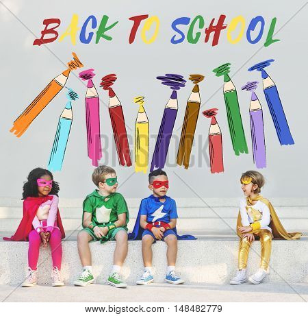 SuperKids Back To School Enjoyment Concept