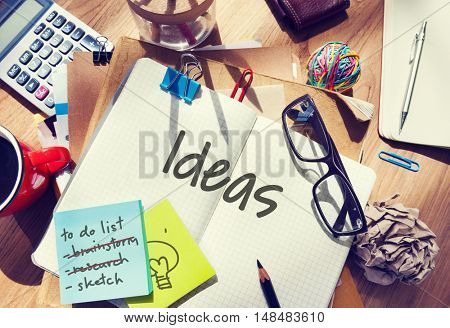 Ideas Brainstorm Reading Books Words Concept